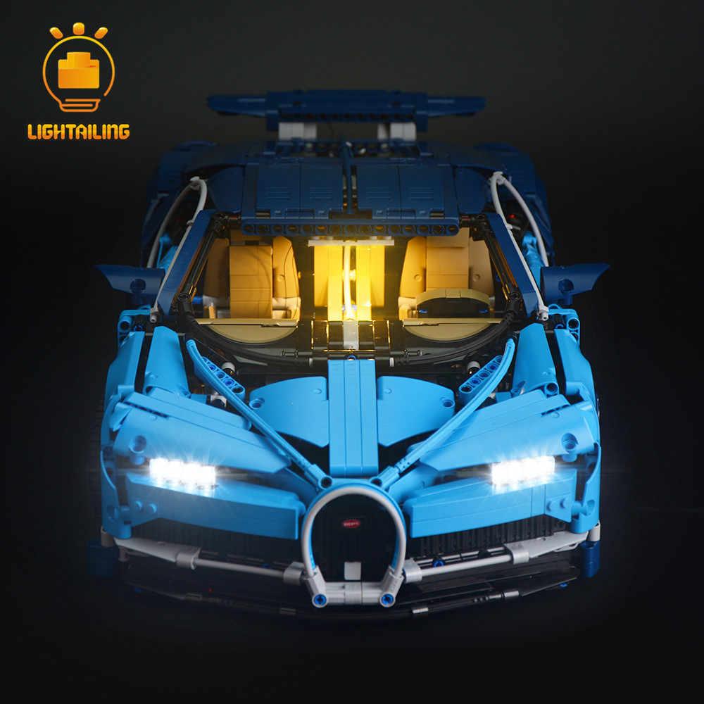 LIGHTAILING zestaw oświetlenia LED dla Technic serii Chiron zabawki budynku blokuje światło zestaw kompatybilny z Bugatti 42083