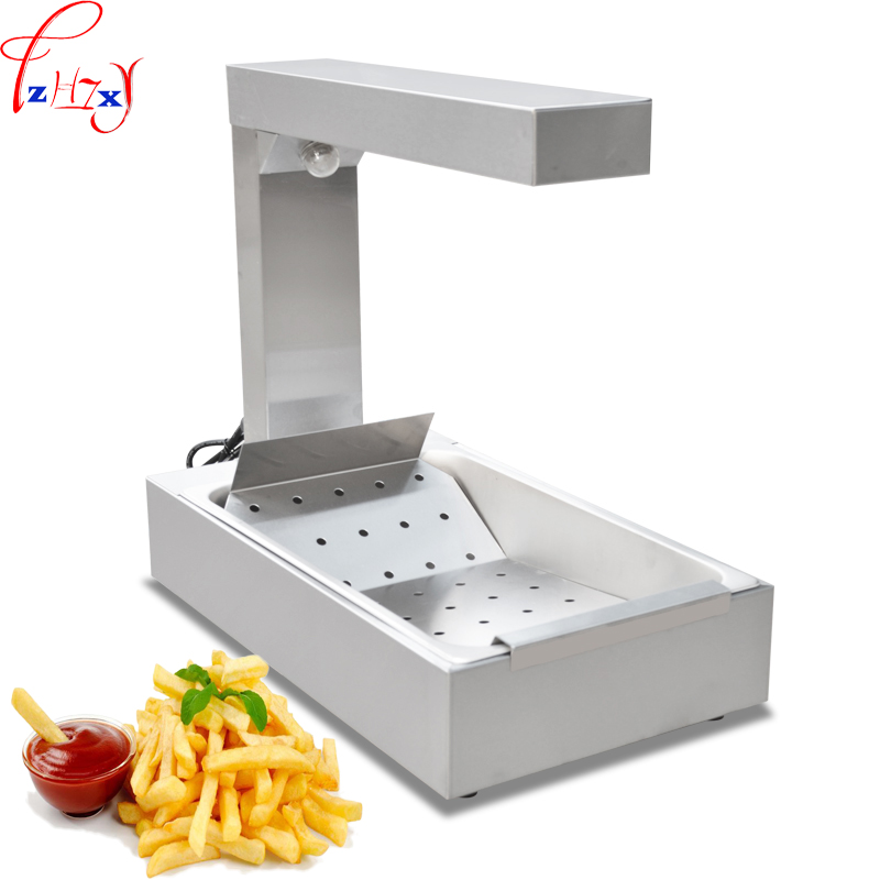 220V 1KW 1PC Desktop French fries workstation FY-620 stainless steel heat preservation of French fries machine пуф french fries