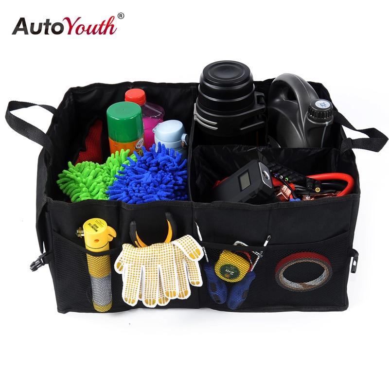Schwarz Oxford Tuch Kofferraum Aufbewahrungsbox Auto Organisieren Rücksitz Lagerung für Auto Lkw oder SUV, perfekte Auto Organizer für alle Fracht