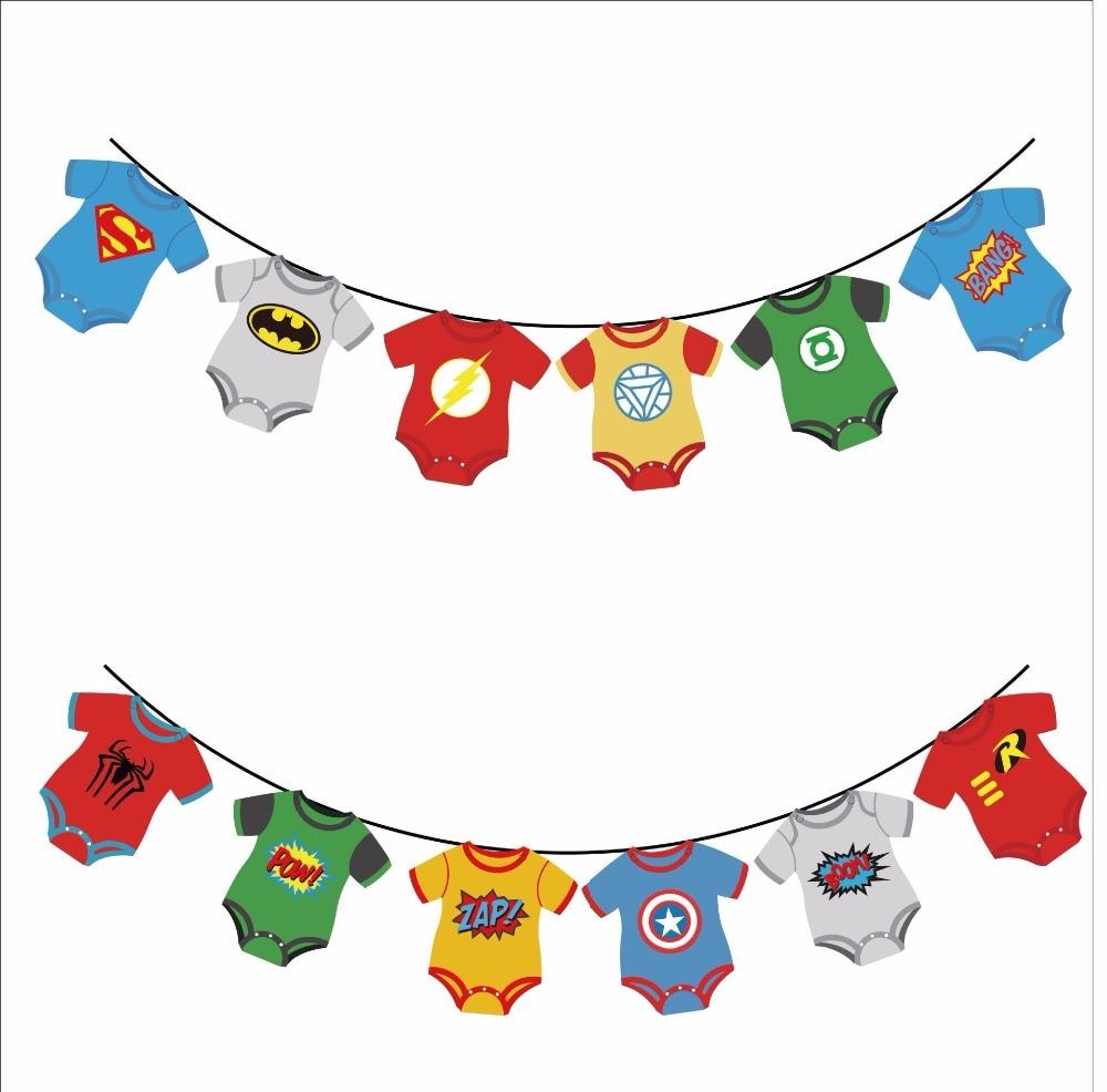 Baby Shower Decoration Party Banner Superhero Avenger