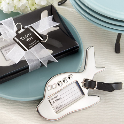 Wedding event and party Gifts Bon Voyage Airplane Wedding Luggage Tag favors for Honeymooners 50PCS/LOT Express Free shipping