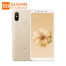 "Original Xiaomi Mi 6X Mi6X 5.99"" FHD Snapdragon 660 AIE 6GB RAM 64GB ROM 4G LTE Mobile Phone 20.0MP Metal Body Google Play Store(Hong Kong,China)"