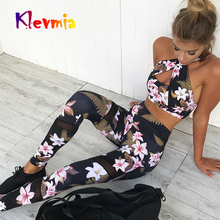 Women Gym Yoga Set Workout Clothing Sport Clothes 2 Piece Sets Push Up Leggings and Bras Sports Wear