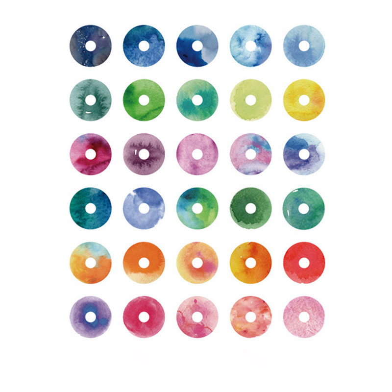 Купить с кэшбэком 60pcs/bag loose-leaf paper repair hole sticker package decoration Stickers diary Scrapbooking diy seal Sticker Stationery