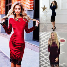 Vintage Dresses Boho Casual O Neck Belt Lace Up Tunic Draped  Long Sleeve Bodycon Casual Party Evening Cocktail Lace Dress lace insert draped mini bodycon dress