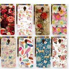 Diy pintura bonita flores da tampa do caso para a alcatel one touch idol 2 mini 6016 6016d 6016a 6016e 6016x