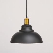 Vintage Iron Lampshade Pendent Light American Style Loft Industrial Style White Black Living Room Restaurant Decor Single Lamp цена