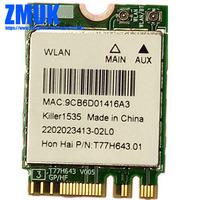 QCNFA364 Killer 1535 802.11ac 867Mbps Wireless + BT 4.1 M.2 NGFF WiFi Card