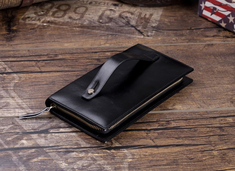 Men genuine leather wallet 9