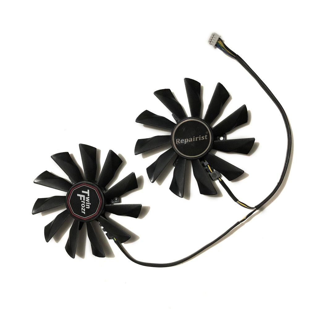 2pcs/set 95mm GTX970/960/950 GPU Cooler Graphics Fan For GeForce GTX 970 MSI GTX 960 GTX950 VGA Video Cards Cooling