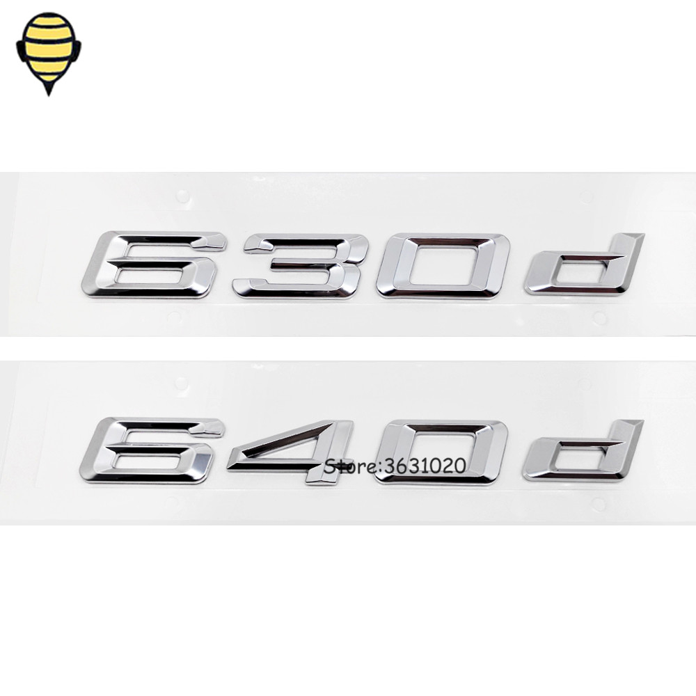 Car Accessories for BMW 6 Series Auto 3D Trunk Lid Rear Sticker Emblem Decal Badge for BMW 630d 640d E46 E36 E60 X6 M6 F31 G30 special car trunk mats for toyota all models corolla camry rav4 auris prius yalis avensis 2014 accessories car styling auto