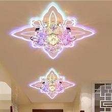 Бабочка Современная Прихожая Кристалл Красочный светодиодный потолочный светильник зеркало в коридоре потолочный светильник прохода веранда светильник ing