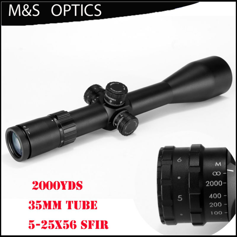 MARCOOL ALT 5-25X56 SFIR 35mm Tube Riflescope MAR-103 Tactical Scopes Optical Sight with a Etched Glass Rangefinder For Rifles marcool alt za3 5 25x56 sfir riflescope