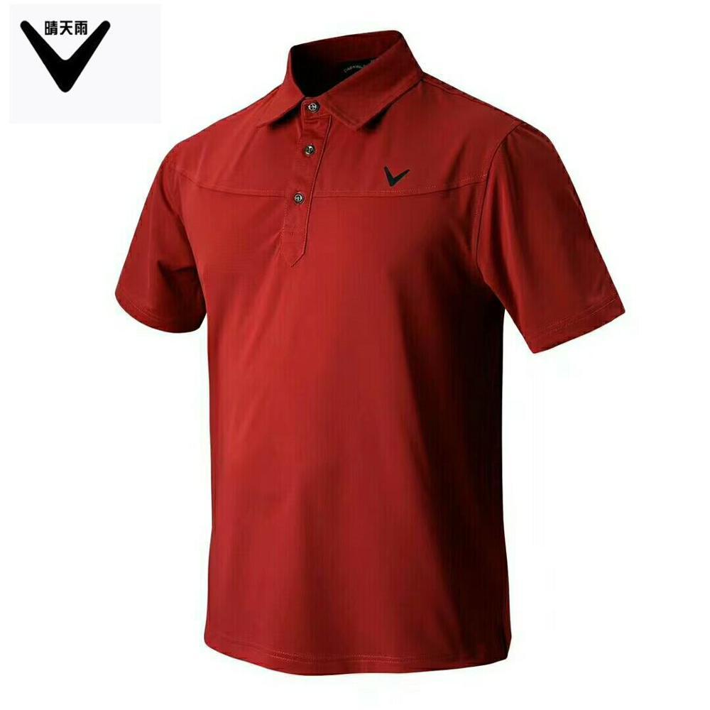 CALLAWAV Mens Golf T-shirt short sportwear outdoor Shirts summer Quick-dry breathable Sh ...