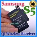 Top qualidade qi sem fio carregador receiver carregamento sem fio adaptador para samsung galaxy s5 ic use importados excelente