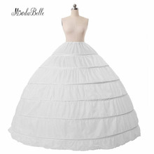 2017 White Ball Gown Wedding Dress Petticoats For Vintage Dresses 6 Hoops Bridal Crinoline Petticoat Crinoline