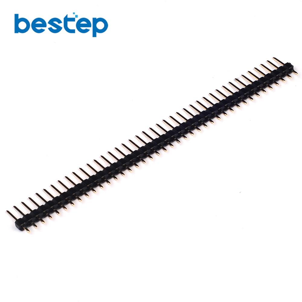 20PCS Gold Plated Single Row 1x40 Pin 2.54mm Male Header Hot Sales