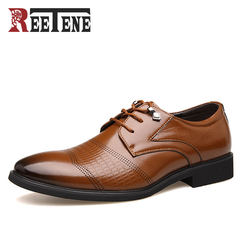 2017 Men Flats Fashion High Quality Genuine Leather Shoes Men,Lace-Up Business Men Shoes,Men Dress Shoes,Summer Oxfords Spring esudiamon casual shoes men british flats black men genuine leather business lace up soft dress men oxfords shoes 45 big size page 4