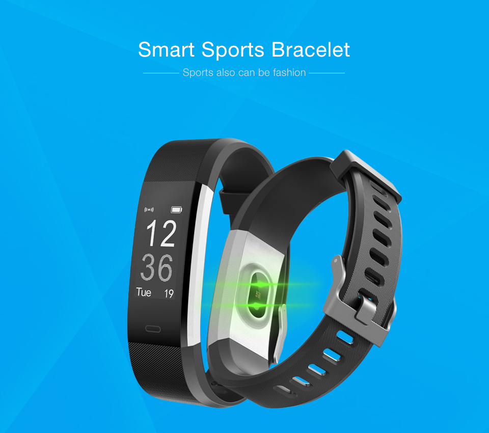 Hot Smart Wristband ID115 Plus Smart Band pedometer Fitness Bracelet Activity Tracker Mp3 Smart Bracelet Pk fitbit PK mi band 2 1