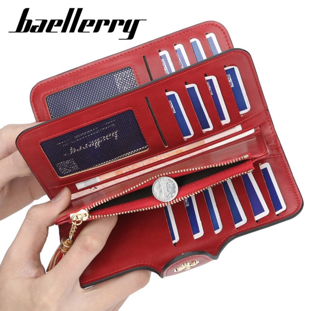 2020 Fashion Women Wallets Summer Long Top Quality PU Leather Card Holder Female Purse Tassel Zipper Brand Wallet For Girl