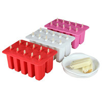 4/10 Trous Silicone Ice Cream Tubs Écologique Popsicle Moule Ménage Silicone Non-toxique Enfant Crème Glacée Outils de Cuisine Gadgets