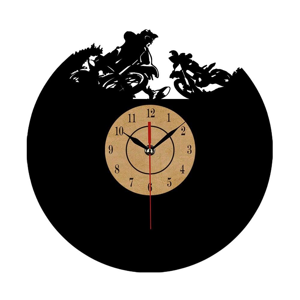 Cd vinyl record wall clock modern skeleton sledding for Classic house cd