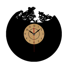 CD Vinyl Record Wall Clock Modern Skeleton Sledding Mountain skiing Watch Classic Clock Relogio Parede Decorative Living Room