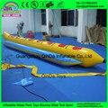 Al aire libre de agua del océano juego emocionante inflable barco de plátano