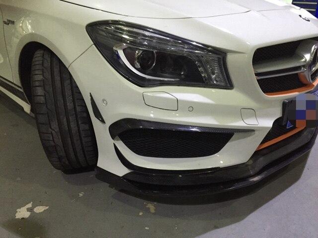 6 Pc pare-chocs avant Air couteau garniture Bar aileron couverture pour Mercedes Benz W117 CLA250 CLA260 CLA45 2013-2015 Fiber de carbone