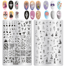 ZJOY-PLUS 1Pcs 9.5*14.5CM Nail Art Stamping Plates Image Templates Manicure Stencils For Nails Stamps 19 Styles