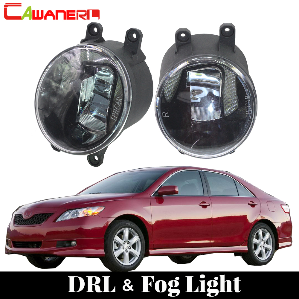 Cawanerl 2 X Car LED Front Fog Light DRL Daytime Running Light White 12V Styling For Toyota Camry 2007 2008 2009 2010 2011 2012 1 set white led daytime running fog light drl for toyota mark x reiz 2013 2015