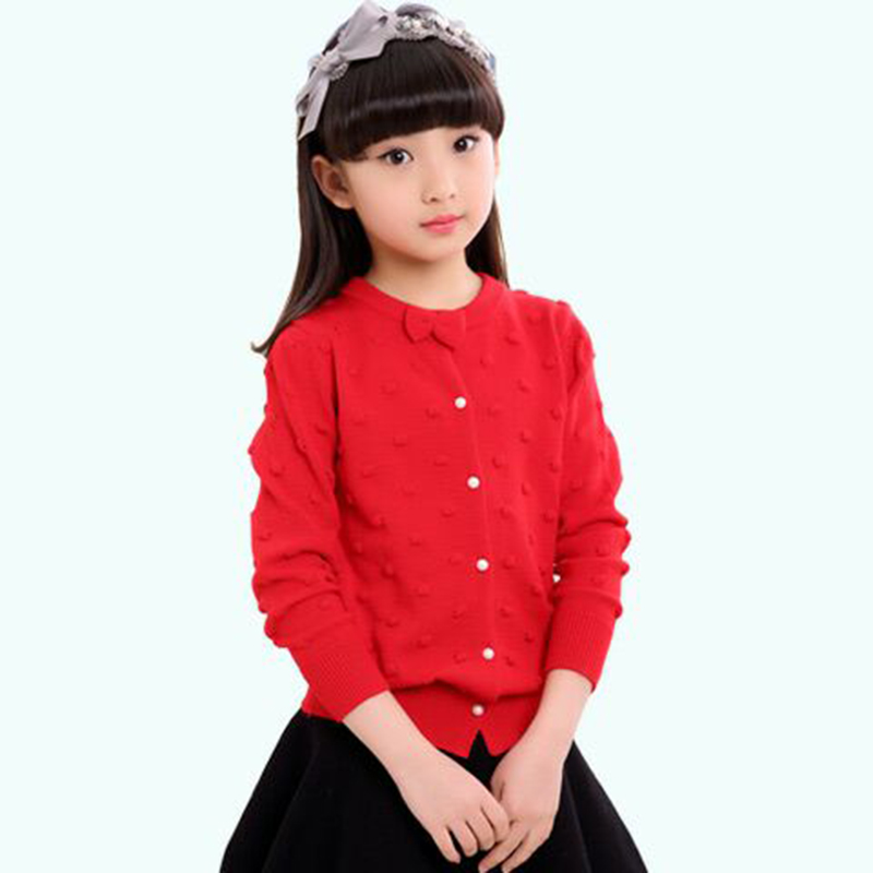 8a2fcb100 Kids New Autumn Little Girl Clothing Knitted Cardigan Sweaters For ...
