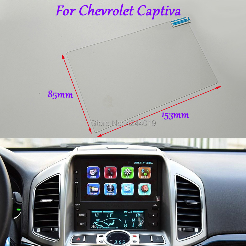 Tommia Car Styling GPS Navigation Screen Glass Protective Film Sticker For Chevrolet Captiva Auto Accessories