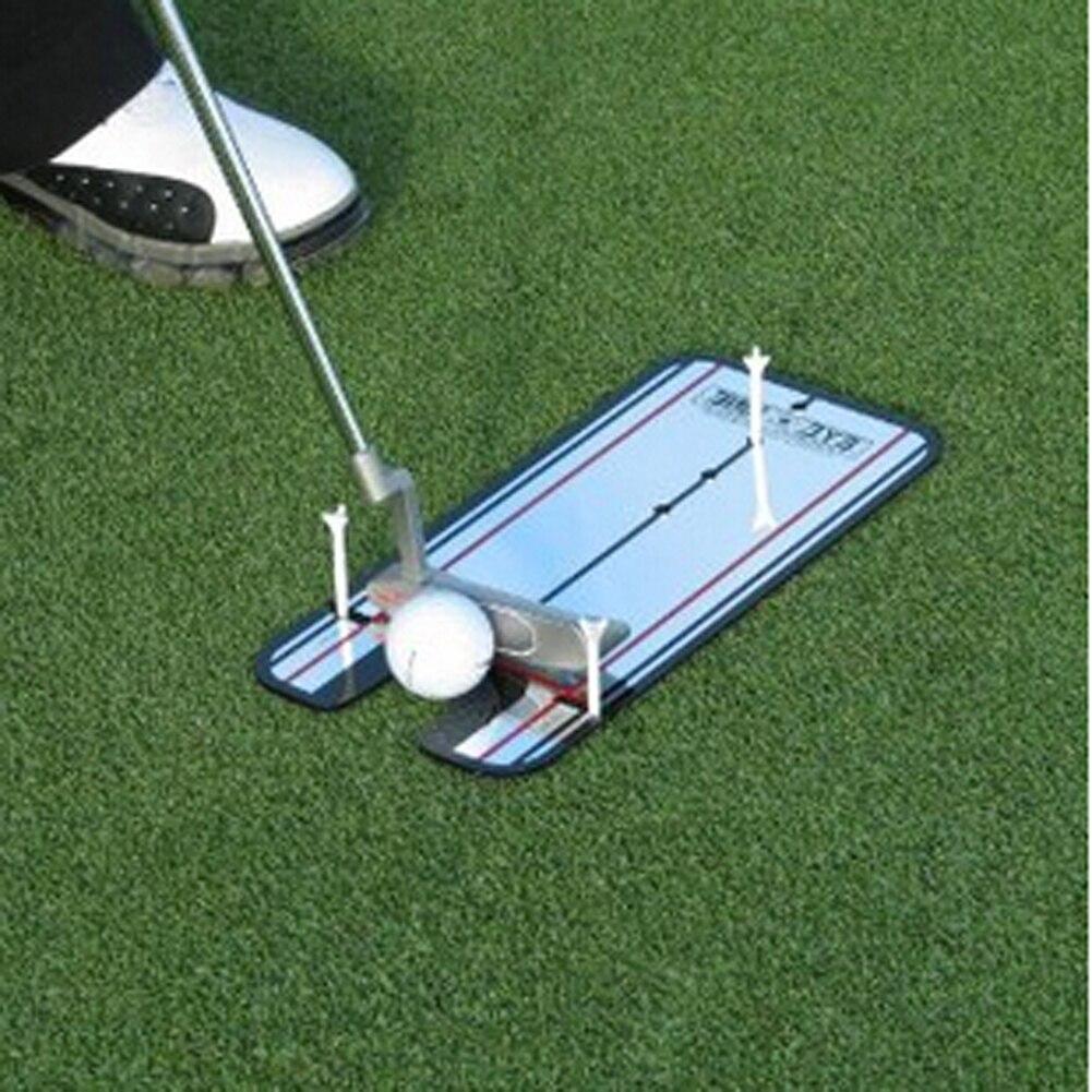 Novo Balanço Do Golfe Prática Putting Espelho Liso Linha de Alinhamento Training Aid Instrutor Do Balanço Do Olho Acessórios de Golfe 31x14.5 cm