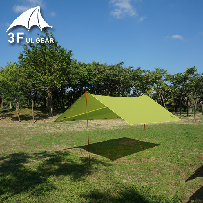 3F Ul Gear Tarps 15D Silicon Tarpe Ultralight Sun Shelter Beach Tent Pergola Awning Canopy Taffeta Tarp Camping Sunshelter In From Sports