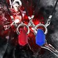 2017 Devil May Cry Colar Vermelho E Azul Prism Pingente Anime Jogo Do Trono de Pingentes de Cristal Colares & Mandala