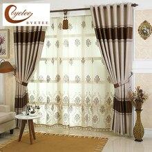 [Byetee] cortinas de luxo para sala estar listrado janela da cozinha cortinas para portas do quarto cortina blackout