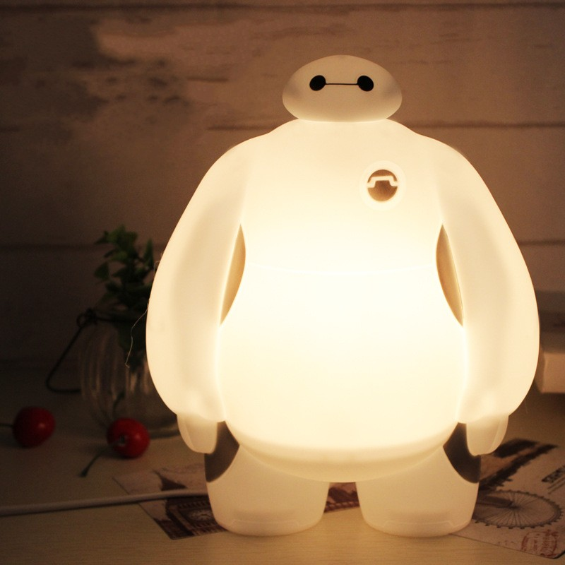Animal Cartoon Big Hero 6 LED Night Light BayMax Light Warm White Children's Gift Bedroom Home Decor Lighting Table Lamp
