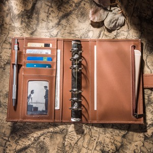 Image 2 - Capa de couro de vaca genuína retro viajante caderno diário diário vintage caderno de viagem artesanal