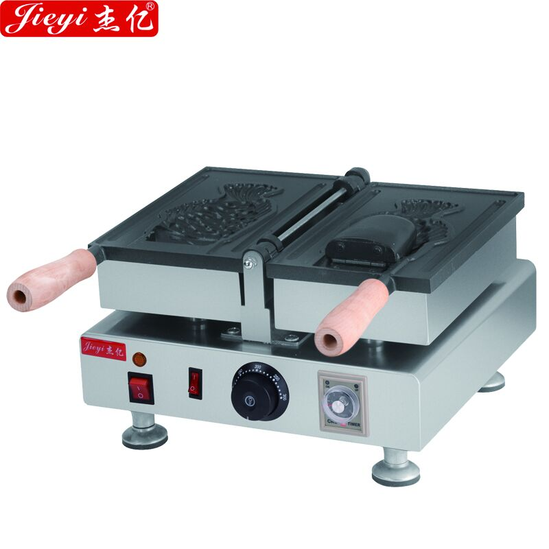 110V 220V 1pcs Fish Shaped Bread Machine Non-stick Korean Ice Cream Taiyaki Making Machine Commercial Fish Waffle Maker taiyaki maker with ice cream filling taiyaki machine for sale ice cream filling to fish shaped cake fish cake maker
