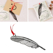 цены Elegant Feather Metal Book Marks Magazine Label Office School Gift Bookmarks New Book mark