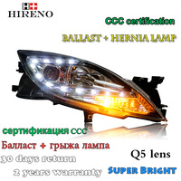 Hireno Car Styling Headlamp For Mazda6 2009 14 Headlight Assembly LED DRL Angel Lens Double Beam