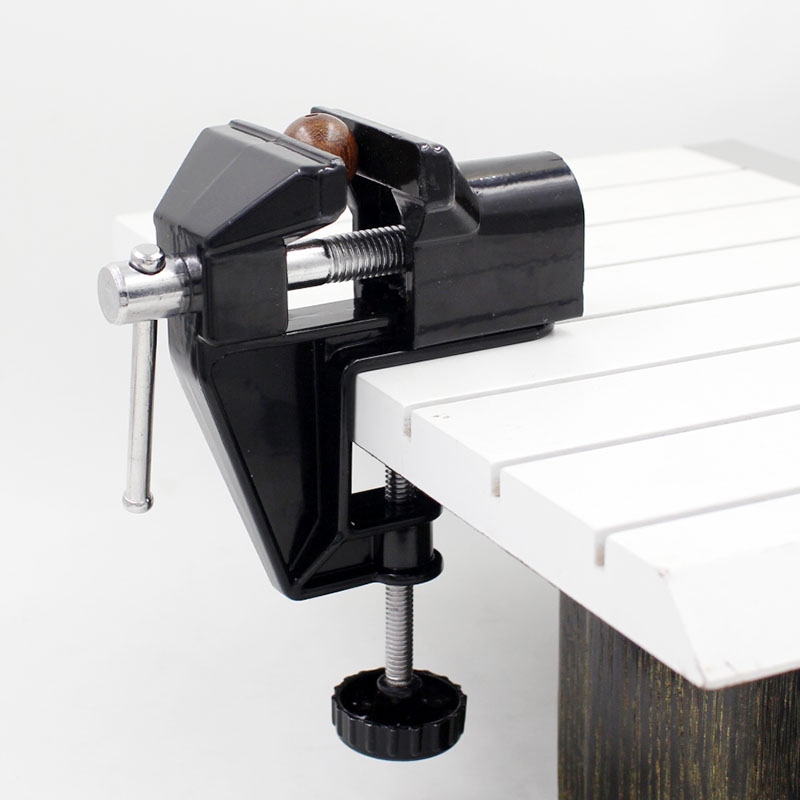 1Pc Aluminum Alloy Mini Vise Bench Table Swivel Lock Bench Clamp Craft Tool