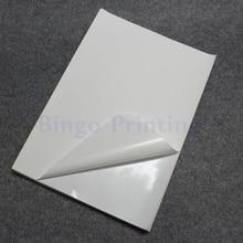 50 листов Белый А4 водонепроницаемый стикер полимерная бумага синтетическая бумага пустой стикер только для лазерного принтера