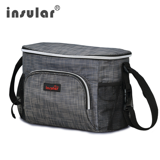 New Style Insular Waterproof Baby Diaper Bag Messenger Mommy Thermal Insulation Stroller Bags