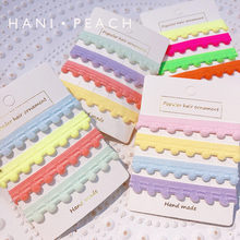 Free shipping children's hair ties Neon color BB girl's elastic hair accessories kid's cute rubber headwear(China)