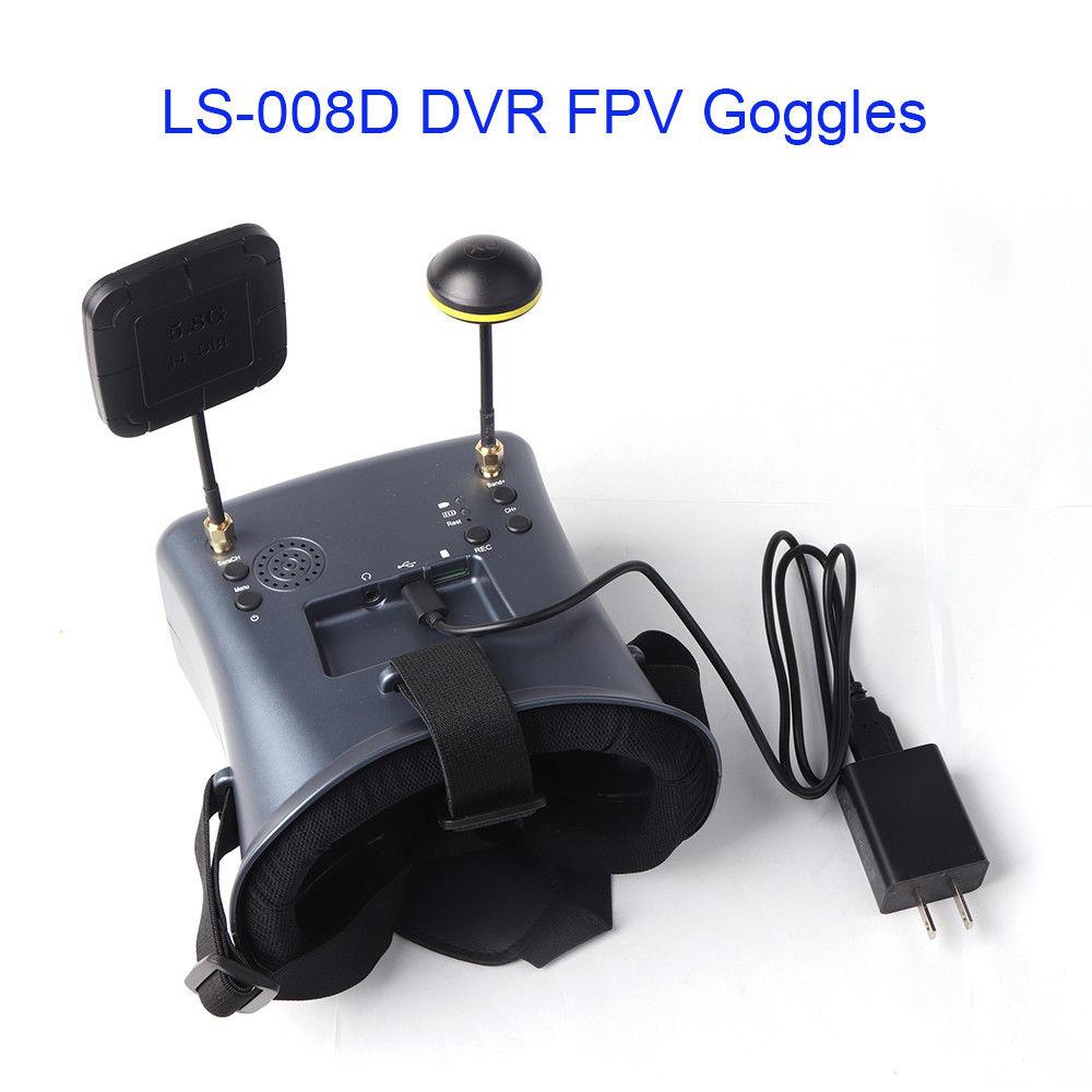 TOMLOV LS-008D 4.3 5.8G 40CH DVR Diversity FPV Goggles Dual Antenna 2000mAh Battery For RC Drone Portable