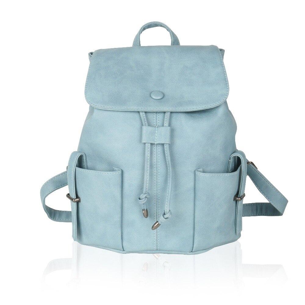 05cde4929bae6 بارد ووكر جديد الرجعية شعبية نساء بنات مدرسة حقيبة الظهر بو الجلود حقائب  نسائية أزياء أنثى حقائب bolsas