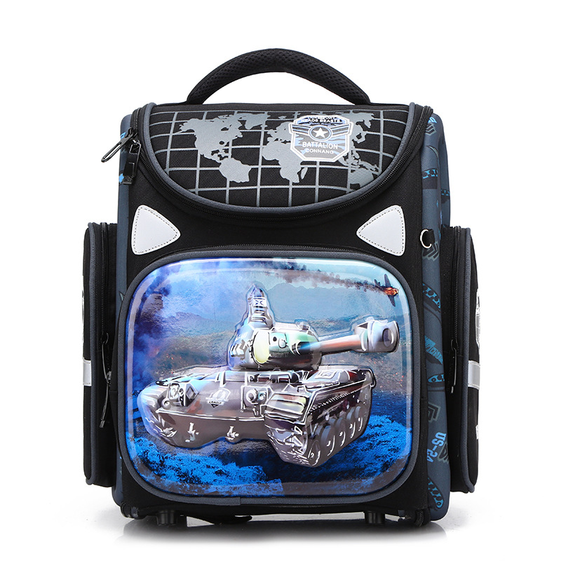 Orthopedic Backpack For Boys Racing Cars Satchel Children School Bags Primary Book Bag Kids Knapsack Mochila Escolar Grade 1-3-6