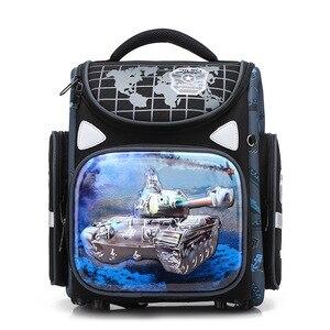 Orthopedic Backpack for Boys Racing Cars Satchel Children School Bags Primary Book Bag Kids Knapsack Mochila Escolar Grade 1-3-6(China)